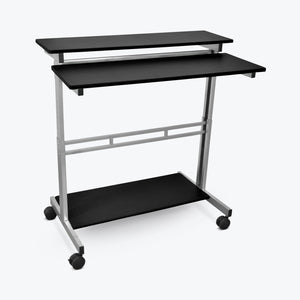 "Luxor 40"" Adjustable Stand-Up Desk (Silver/Black) - STANDUP-40-B"