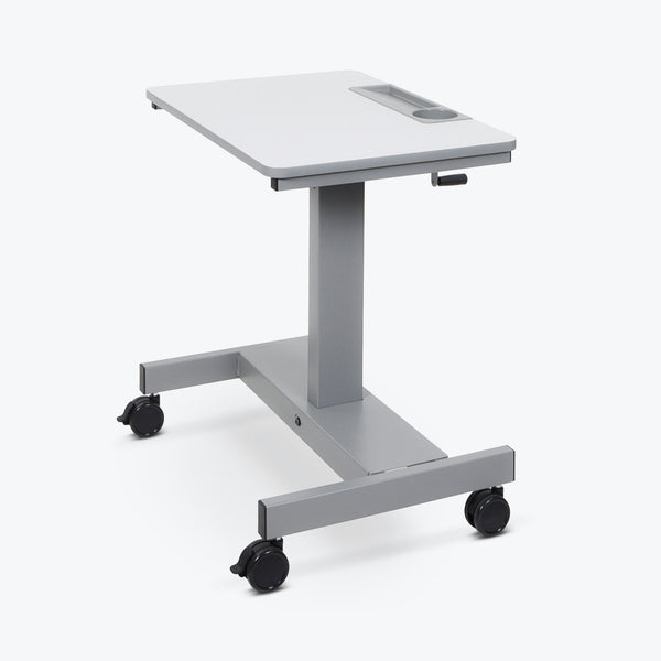 Luxor Sit Stand Desk with Crank Handle (Gray) - STUDENT-C