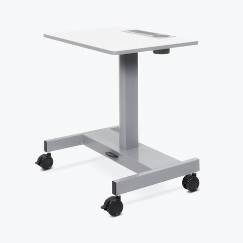 Luxor Short Pneumatic Sit/Stand Desk (Gray) - STUDENT-P-S