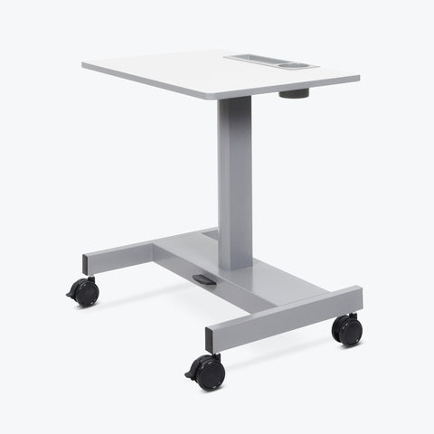 Luxor Adjustable Pneumatic Sit/Stand Desk (Gray) - STUDENT-P
