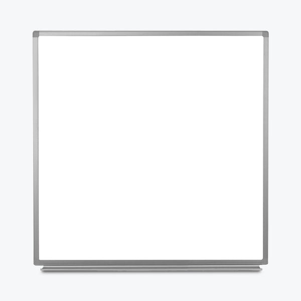 "Luxor Wall-Mountable Magnetic Whiteboard 48"" x 48"" (White/Silver) - WB4848W"