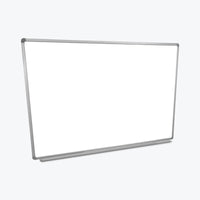 "Luxor Wall-Mountable Magnetic Whiteboard 60"" x40"" (White/Silver) - WB6040W"