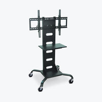 Luxor Mobile Flat Panel TV Stand & Mount (Black) - WPSMS51