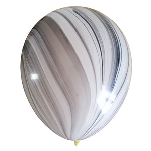 Black and White marble balloon