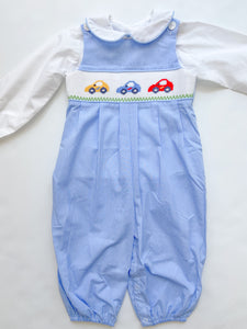 Blue Cards Long Romper - Infant