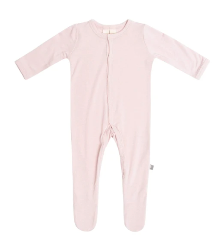 Solid Zippered Footie Blush