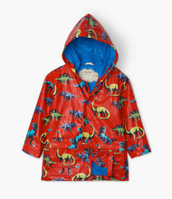 Load image into Gallery viewer, Silhouette Color Changing Dinos Raincoat