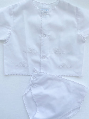 White Lamb Diaper Cover Set