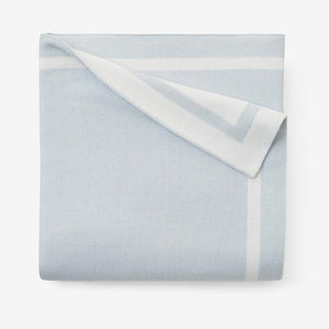 Blue Tuxedo Stripe Reversible Cotton Knit Baby Blanket