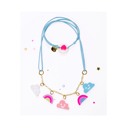 Mini Clouds and Rainbows Necklace Pastel