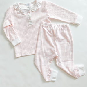 Pink Gingham Ruffle Set - Girls