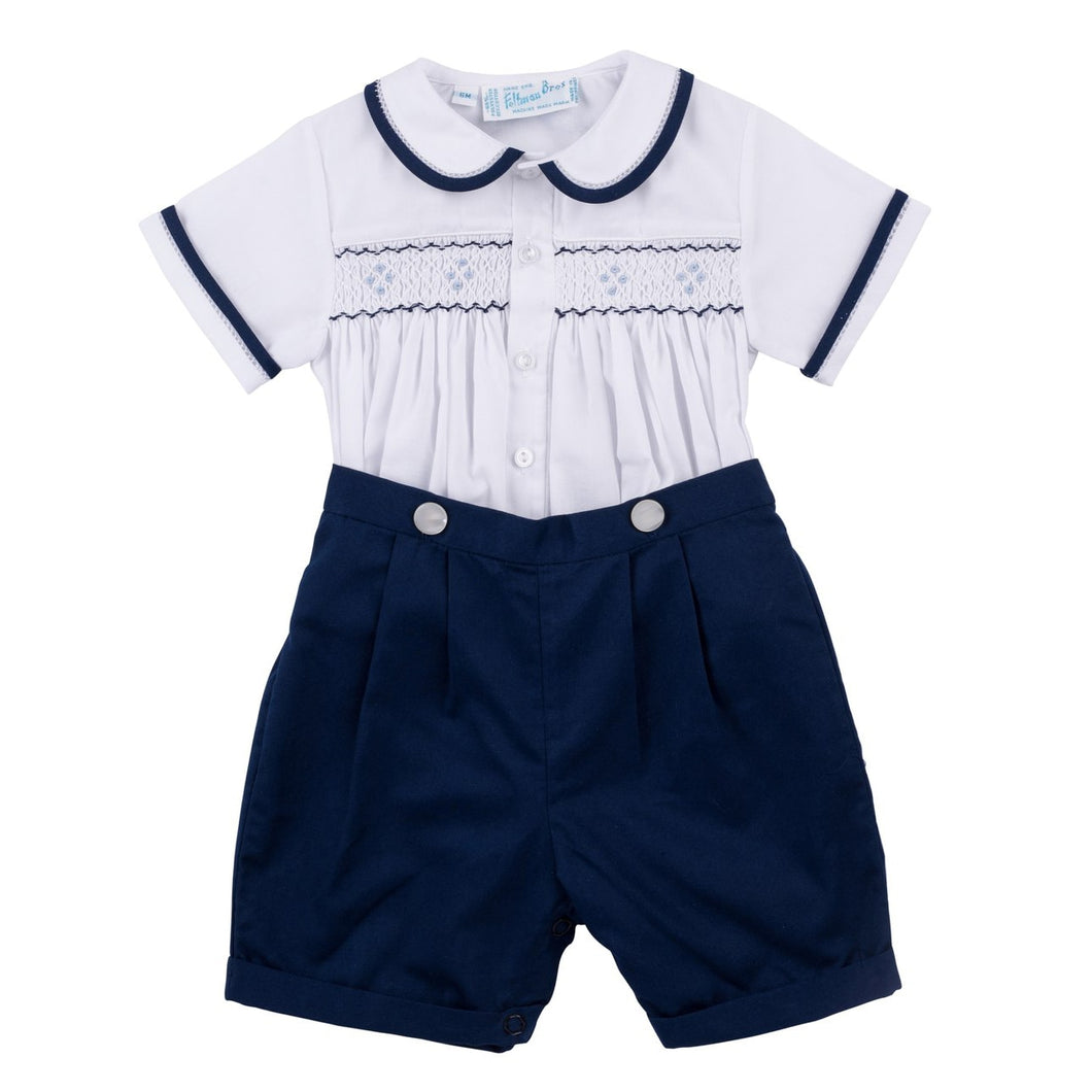 2 Piece Navy Smock Bobby Suit