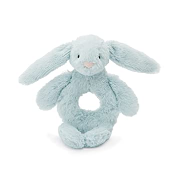Bashful Bunny Ring Rattle-Toy - beau