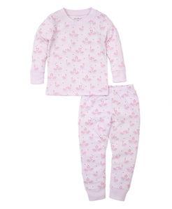 Glitter Swan Pajama Set - Girls