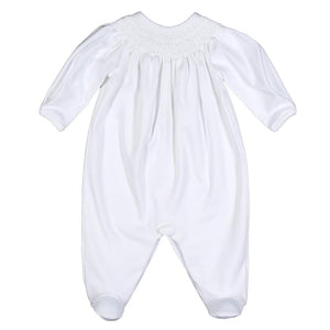 White Smocked Bishop Footie