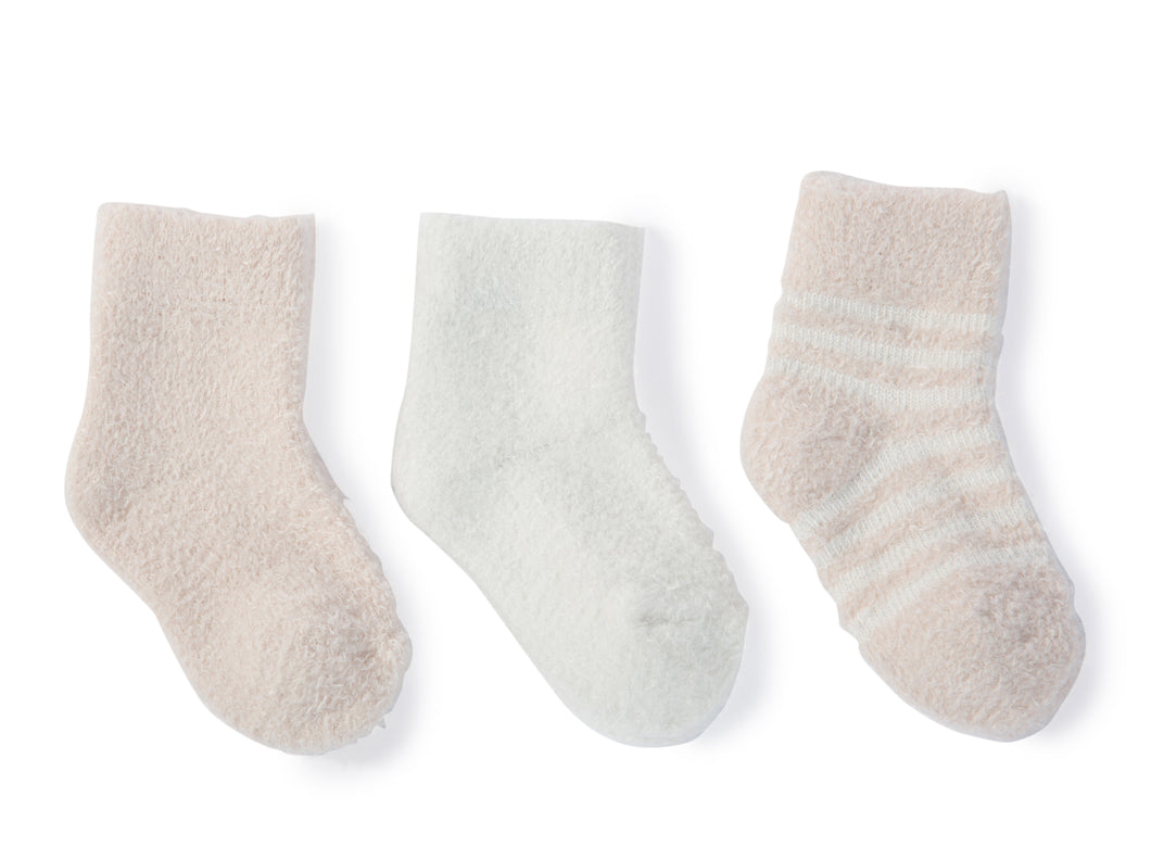 CozyChic Lite Infant Sock 3 Pack - Pink