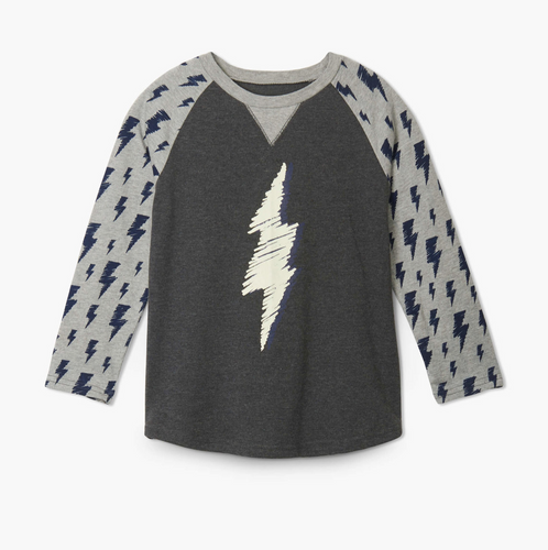 Lightening Bolt Raglan Tee-Toddler Boys
