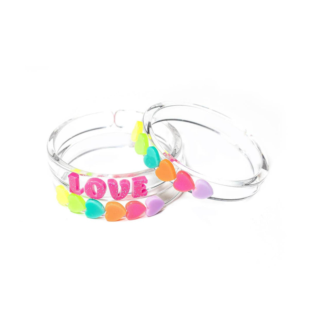 Love & heart bangle