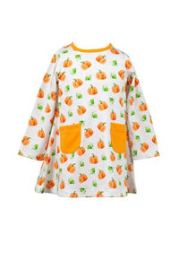 Parker Pumpkin A-Line Dress - Toddler Girls
