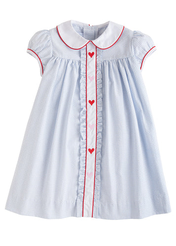 Hearts Ruffled Sally Dress