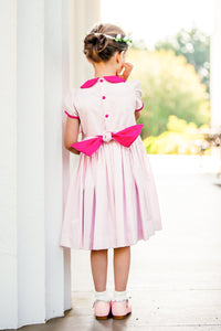Pink Scarlett Dress-Toddler girls