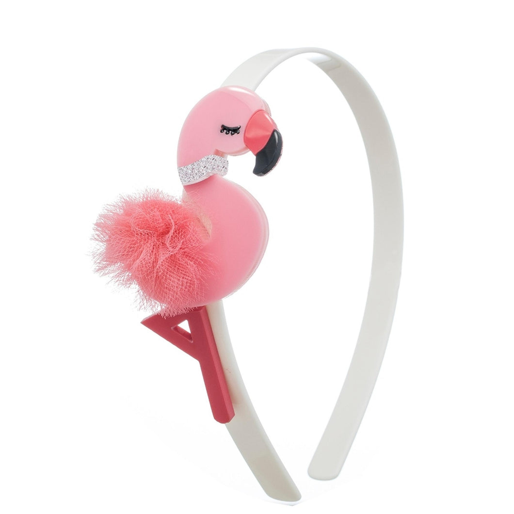 Flamingo Pom Pom Headband