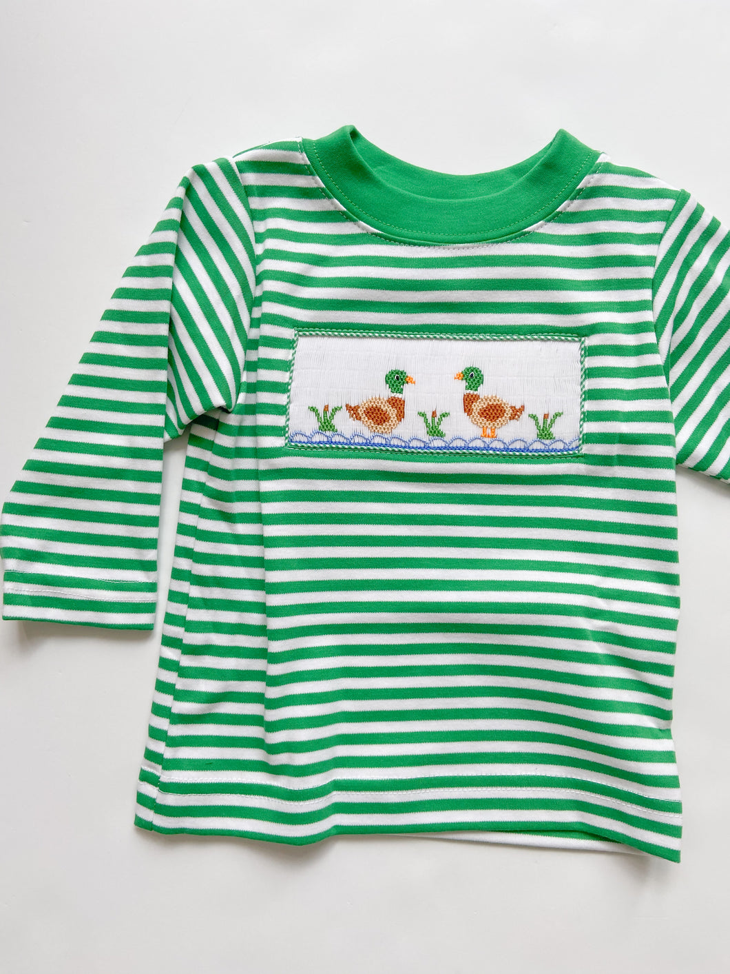 Mallard Duck Smocked T-Shirt 320P -4-6 Boys