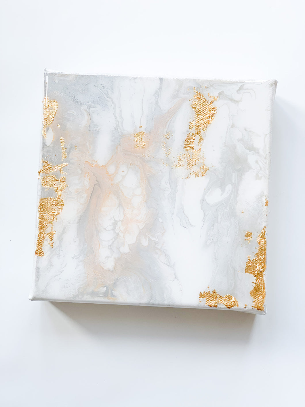 Abstract on Canvas - White 6x6