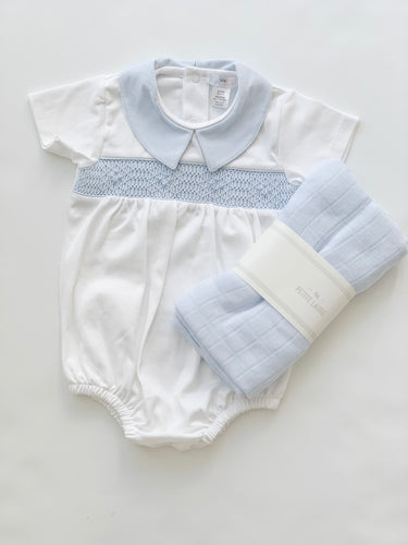 Ted Hand Smocked Pima Bubble-infant