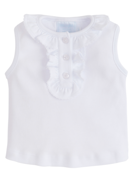 Ruffled Henley White