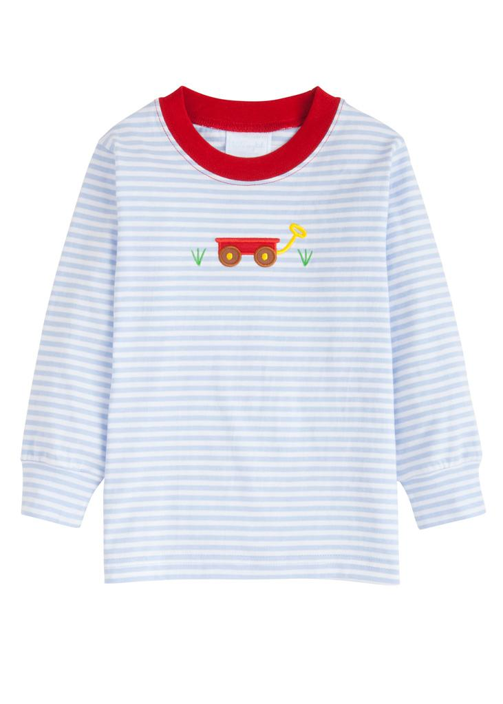 Wagon Applique Long Sleeve Shirt