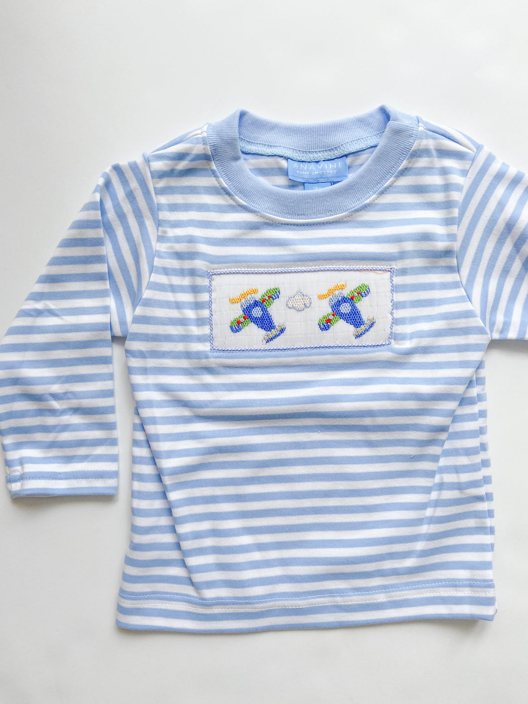 Airplanes Smocked T-Shirt 315P - 4-6 Boys