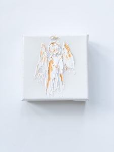White Texture Angel on Canvas