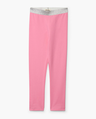Pink Embellished Waist Leggings - 4-6 Girls