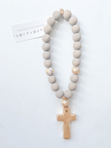 Norah Small Cross Blessing Bead