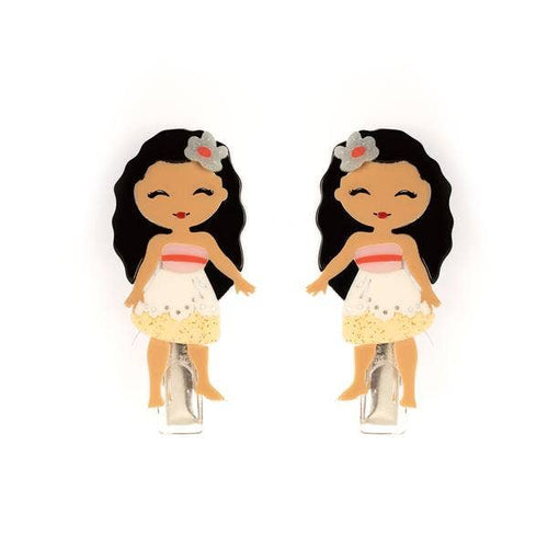 Cute Doll Moana Alligator Clips