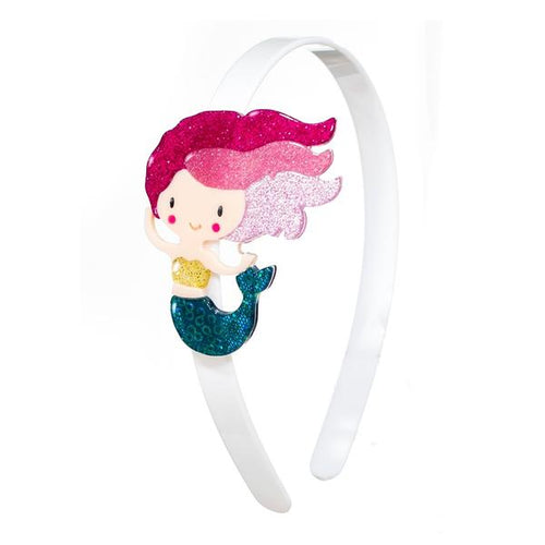 Headband Underwater Mermaid Glitter Pink
