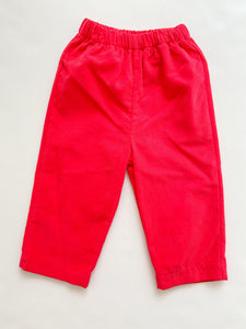 Boys Cord Pant Red 325PB - Infant