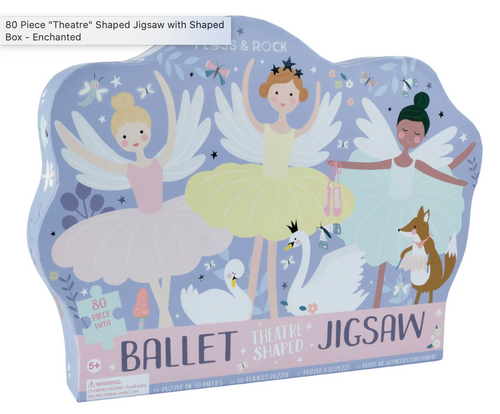 Ballet Theater Shaped Jigsaw Puzzle 80 PC