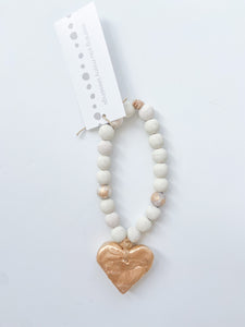 Bitty Blessing Bead White