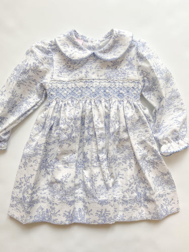 Elizabeth Toile Collar Dress - Toddler Girls