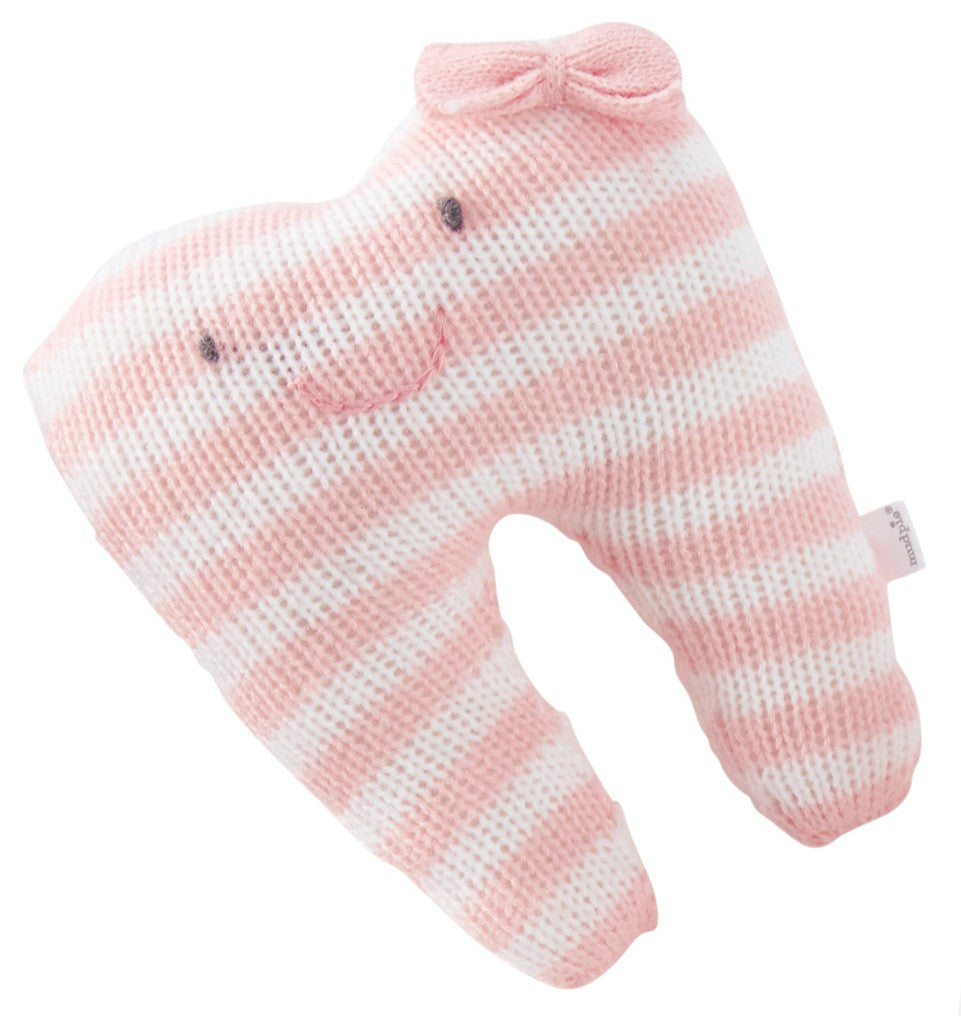Pink Stripe Tooth Pillow