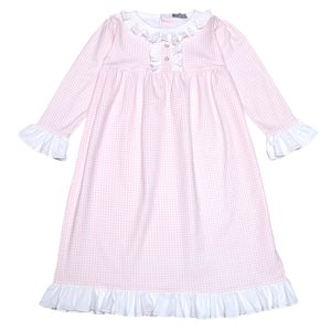 Pink Gingham Night Gown - Toddler Girls