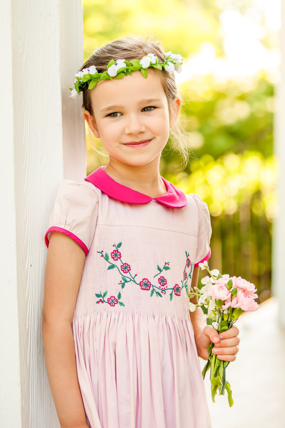 Pink Scarlett Dress-4-6 girls