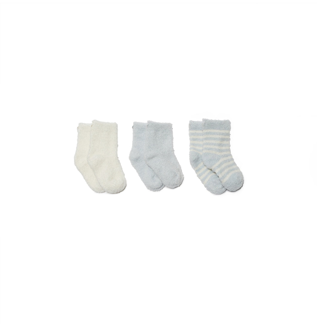 CozyChic Lite Infant Sock 3 Pack - Blue