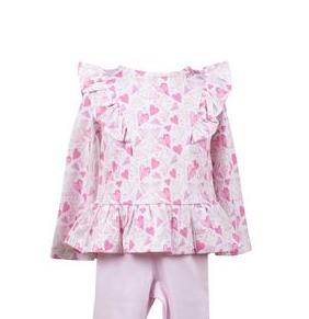 Hadley Heart Ruffle Tunic - Toddler Girls