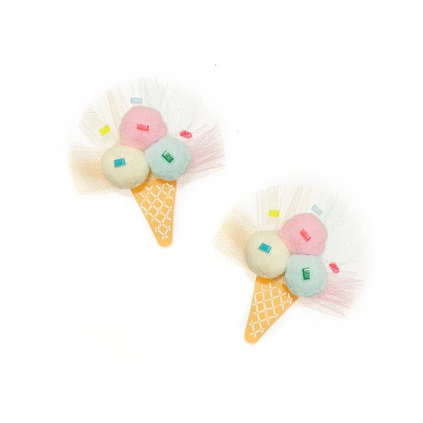 Alligator Clip - Pom Pom Ice Cream