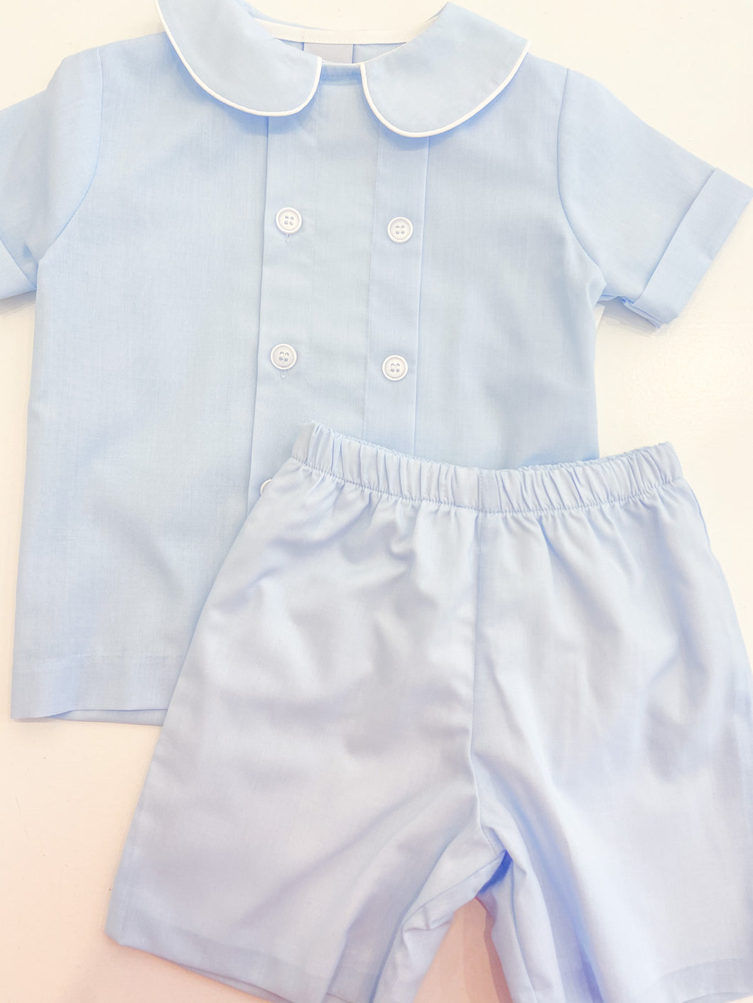 Dressy Short Set Blue Bonnet