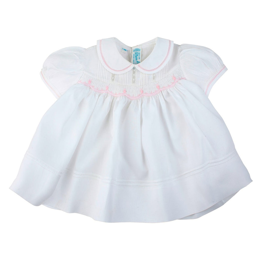 Rosebud Detail Smocked Dress 83235