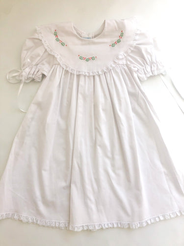 Holly Lace Dress White/Red - Toddler Girls